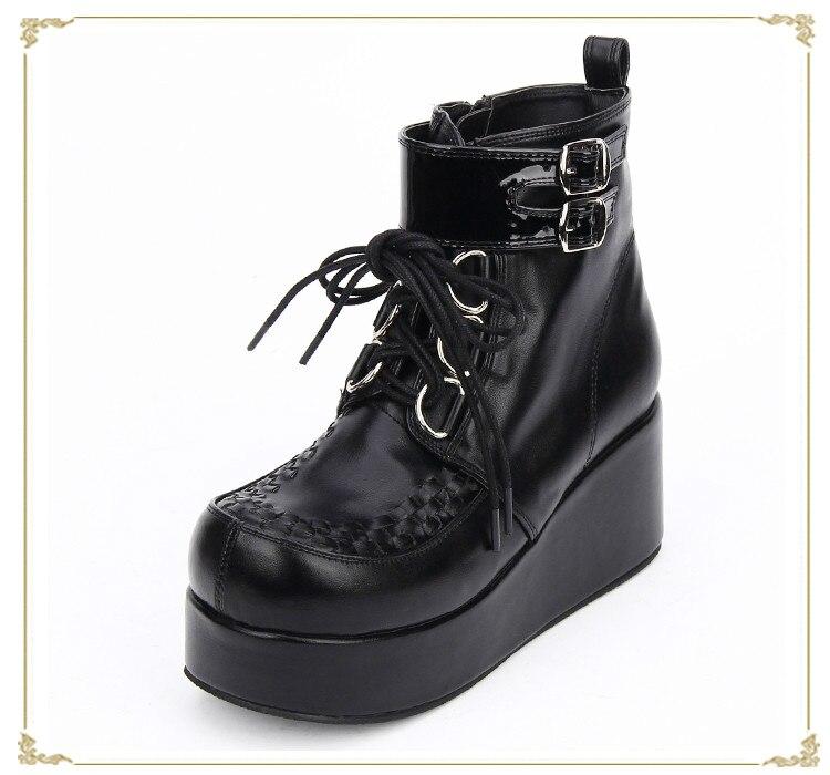 Princess sweet punk shoes custom cos animation short boots lace-up platform shoes pu9710 женский костюм для косплея love ya cosplay cos cos