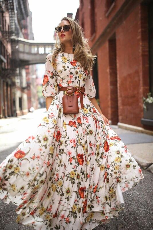 Frauen Sommer Casual Boho Floral Gedruckt Urlaub Lange Kleid Cocktail Party Strand Kleider Sommerkleid