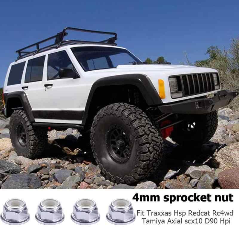 4 adet Alüminyum Tekerlek Kilit Somunları RC Model Araba için 1/10 Eksenel SCX10 Paletli PNLO