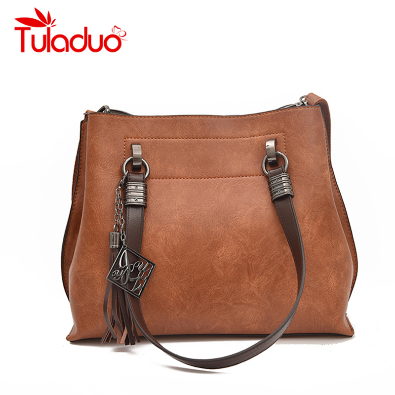 Casual Tote Bag Women Bags Designer Handbags PU Leather Women Shoulder Bags Large Capacity Bucket Female Tassel Bolsa Feminina wholesale blanks pu faux leather handbags casual tote bag large capacity square satchels bag dom1038113