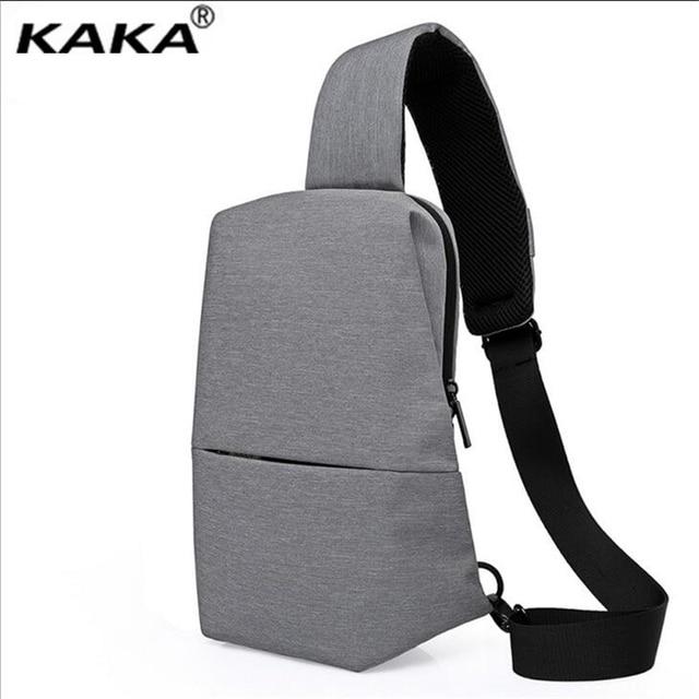f72dfa619 KAKA New Fashion Men's Chest Bag Multi-function Oxford Messenger Bag Korean Single  Shoulder Bag Contracted Joker Men's Bags B449