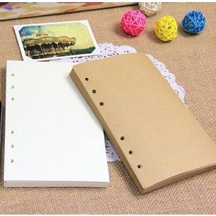 Vintage Notebook Loose-leaf Refill Paper Cowhide Craft White And Yellow For Spiral Journal Free Shipping 1409