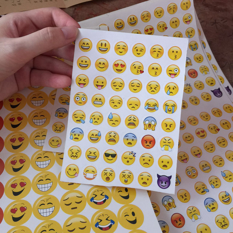1pcs 48 expression DIY Cute  Paper Sticker  QQ Expression Sticky Paper For Scrapbooking Photo Album Diary Children sticker