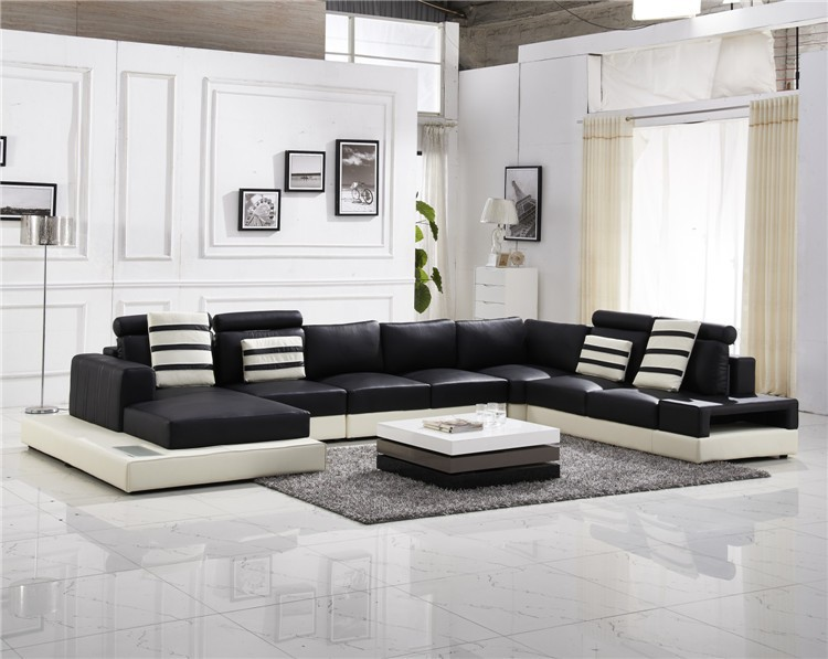 2015 Popular Home Funiture Real Leather Sofa Modern Living Room