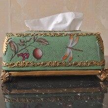 Смола ручной работы керамические ткани поле лоток насосных Европейской классической гостиной украшения салфетка коробка 6403