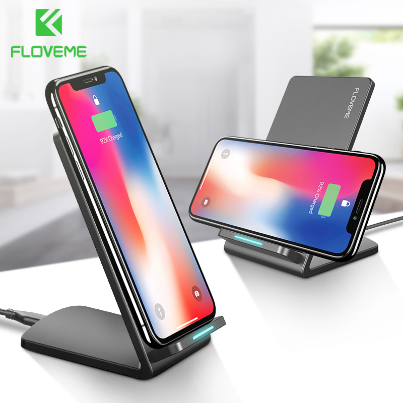 FLOVEME 10W Qi Wireless Charger For iPhone X 8 Plus For Samsung Galaxy S8 S9 S7 Edge Fast Charger Wireless Charging Dock Station