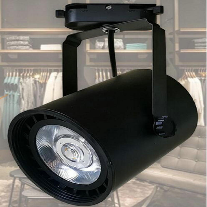 LED Rail Lighting 30W 35W E27 PAR30 COB LED Track Light Black/White Shell LED Ceiling Lamps LED Spotlight LED Wall light led par30 lamp 30w 40w 50w track light flood light bulb par30 e27 cob osram led warm white spot lamp for kitchen clothes shop