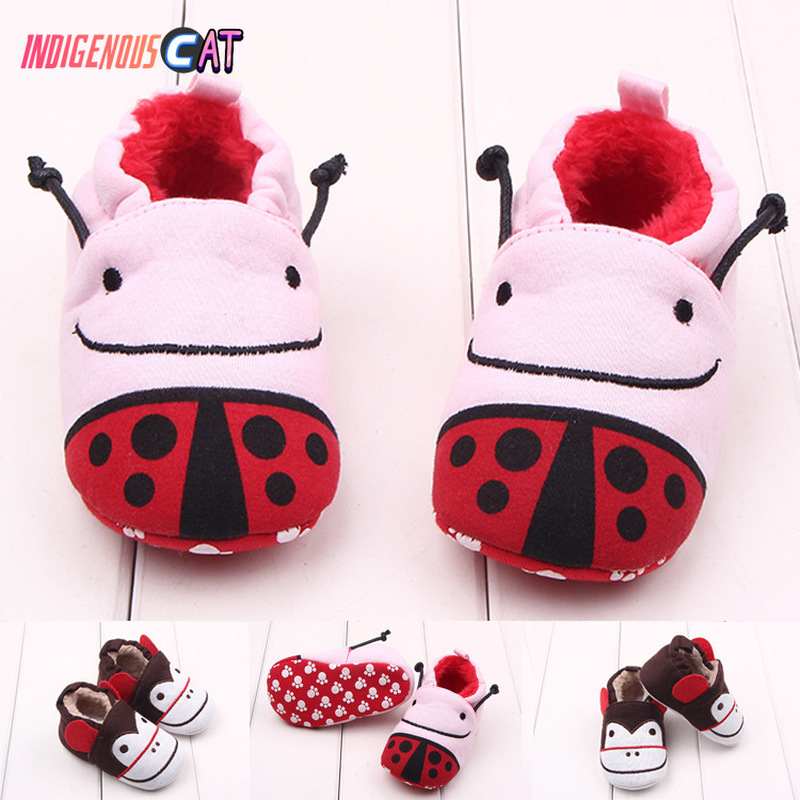 Baby Shoes Girls Boy First Walkers Newborn Cartoon Pure Cotton Winter Keep Warm Lovely Crib Shoes New in First Walkers from Mother Kids