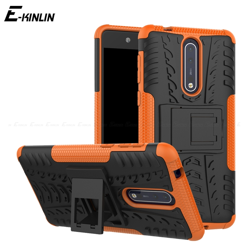 Tough Heavy Duty Back Cover For <font><b>Nokia</b></font> 8.1 7.1 6.1 5.1 <font><b>3.1</b></font> Plus X7 X6 X5 6 2018 8 5 3 2 1 Hybrid Impact Stand Holder Armor <font><b>Case</b></font> image