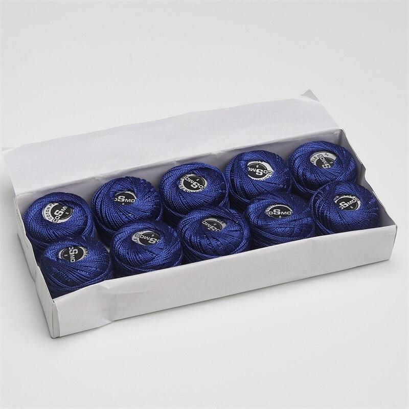5 граммов размер, 8 жемчужных хлопковых нитей для вышивки крестиком, 43 ярдов на шарик, Двойной Мерсеризованный длинный штапельный хлопок, 10 шт./col - Цвет: 820