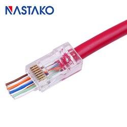 ez cat5 Cat5e Cat6 RJ45 Connector RJ45 Plugs Cat6 UTP Network Cable Modular Plug Unshielded Have Hole Easy Pass Through Jack