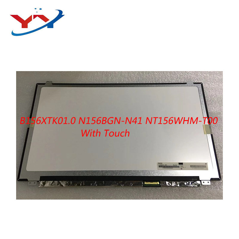 FOR Dell Inspiron 15 5558 Vostro 15 3558 JJ45K NT156WHM-T00 B156XTK01.0 N156BGN-N41 40PINS EDP LCD SCREEN Panel Touch Display