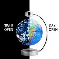 8 Inch Magnetic Levitation Globe With LED Light Electronic Floating Globe Home Bedroom Study Room Decoration US EU UK AU Plug