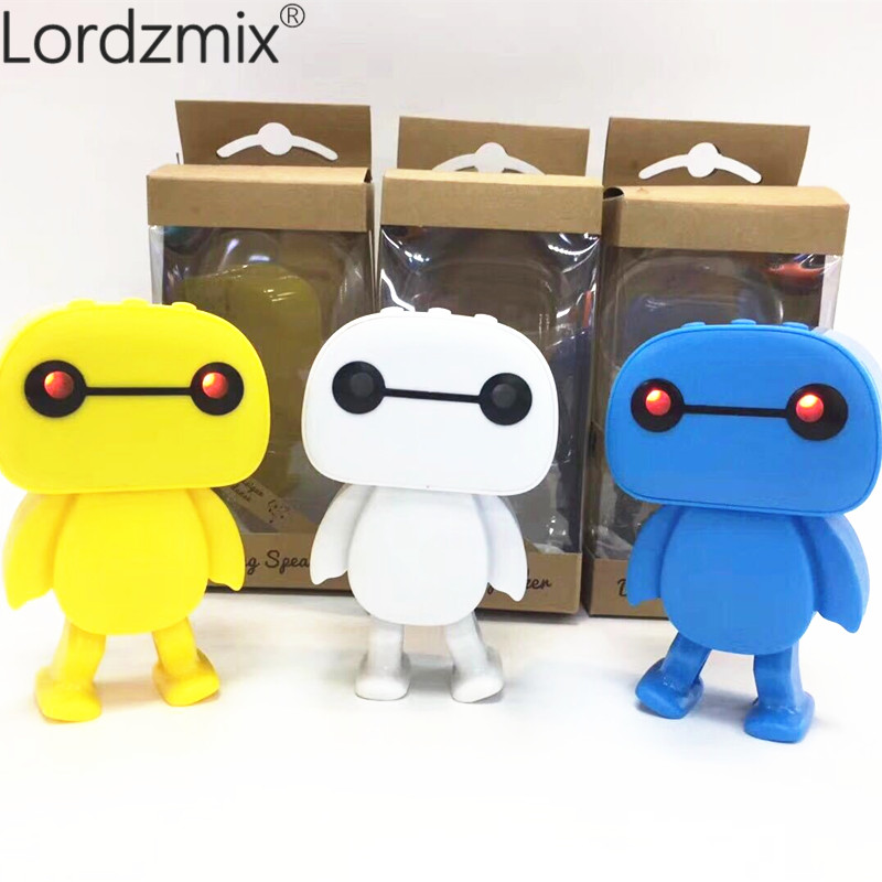 Baymax Smart Dance Robot Bluetooth Wireless Speaker story machine Electronic Walking Toys dancing With TF Music Gift For Kids