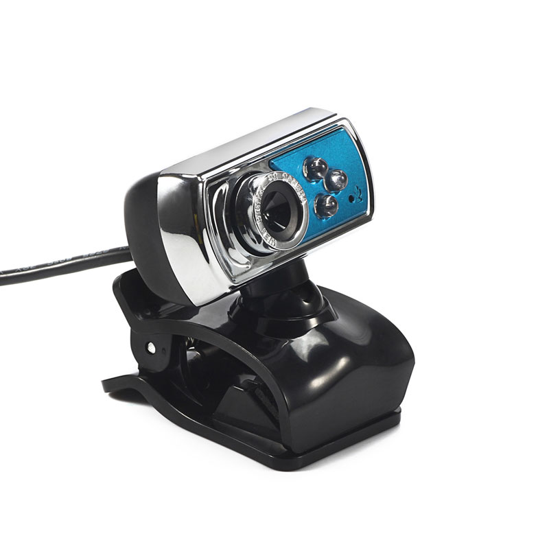 12 MP Webcam HD High-definition 3 LED Webcam USB Camera with Mic  Night Vision for PC Computer Peripherals Blue 1