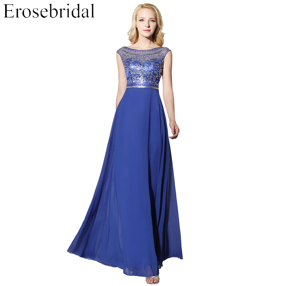 [Clearance Sale] Long Evening Dress Cheap Price Chiffon Formal Women Party Porm Wear 48 Hours Shipping With V Back(China)