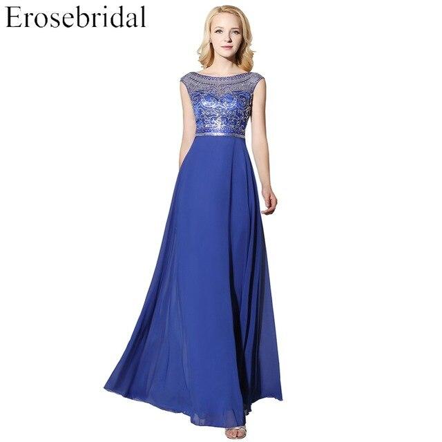 [מכירת חיסול] ארוך שמלת ערב זול מחיר שיפון פורמליות נשים המפלגה Porm ללבוש 48 שעות חינם עם V בחזרה
