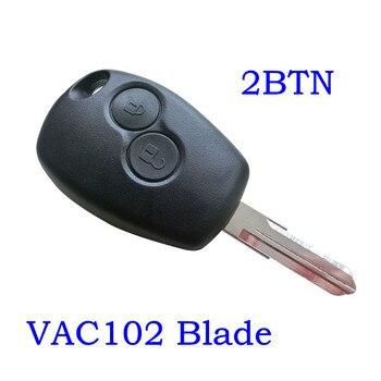 Modificado clave Shell para Renault Dacia Modus Logan Clio Espace Nissan Flip remoto Fob con VAC102 hoja