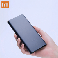 10000mAh Xiaomi Mi Power Bank 2i External Battery Bank 18W Quick Charge Powerbank 10000 PLM09ZM with Dual USB Output for Phone