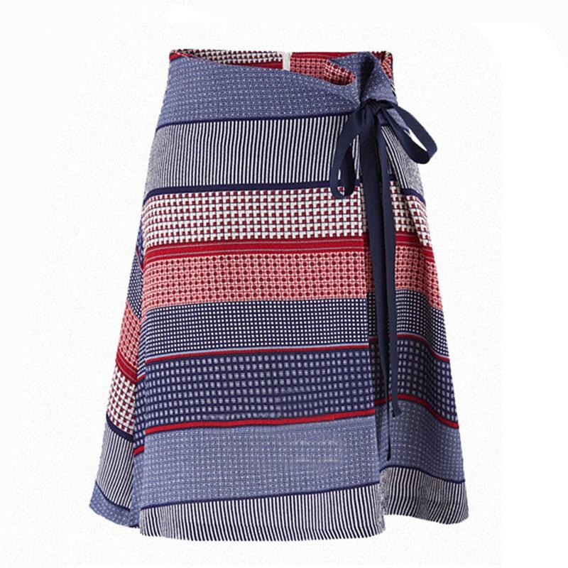 High waist Dots Jacquard Mini ruffles Skirts Womens 2016 Autum Ties Bow Empire A-line Pleated Elegant Office style Tulle Saia