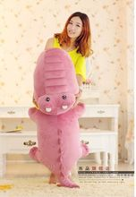 huge lovely crocodile toy plush cartoon crocodile doll big pink crocodile toy gift about 150cm