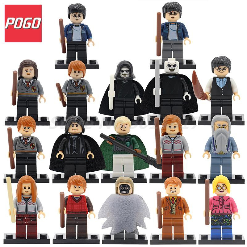POGO Harry Potter Series Wholesale 20pcs lot Ron Weasley Superheroes Building Blocks Sets Model DIY font