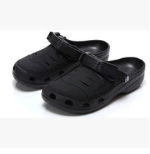 dropship men yukon woven sport leather clogs sandal casual leisure shoe resin  hook loop brand slipper 29cm  big size 45