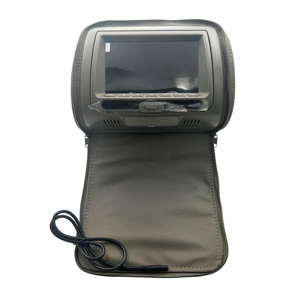 7 дюймов HD подголовник автомобиля Инфракрасный видео динамик на молнии Крышка Регулируемый ЖК-экран многофункциональная игра USB монитор dvd-плеер - Color: Grey