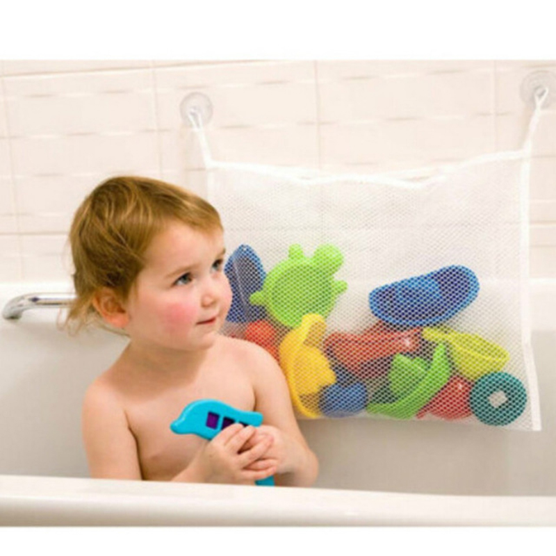 Image 5 - Kids Baby Bath Toys Tidy Storage Suction Cup Bag Baby Bathroom Toys Mesh Bag Organiser Net-in Bath Toy from Toys & Hobbies