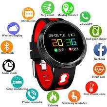 Smart band LED large color touch social information reminder fitness tracker smart bracelet sleep monitor blood pressure watch