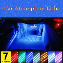 Dla Peugeot 5008 3008 Mitsubishi Outlander ASX taśma LED do samochodu światła papierosów kolorowe dekoracyjna lampa wnętrze światło z pilotem