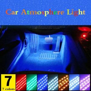 Image 1 - For Peugeot 5008 3008 Mitsubishi Outlander ASX Car LED Strip Light Cigarette Colorful Decorative Lamp Interior Light With Remote