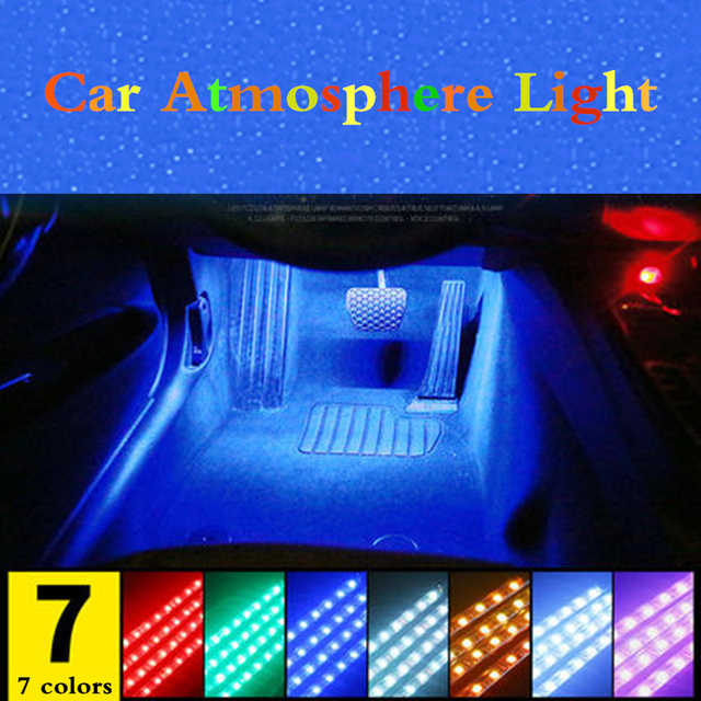 For Peugeot 5008 3008 Mitsubishi Outlander ASX Car LED Strip Light Cigarette Colorful Decorative Lamp Interior Light With Remote