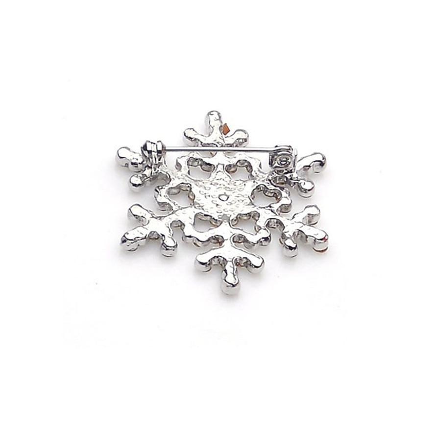 Luck dog Fashion Brooch Pin Crystal Rhinestone Large Snowflake Winter snow Theme