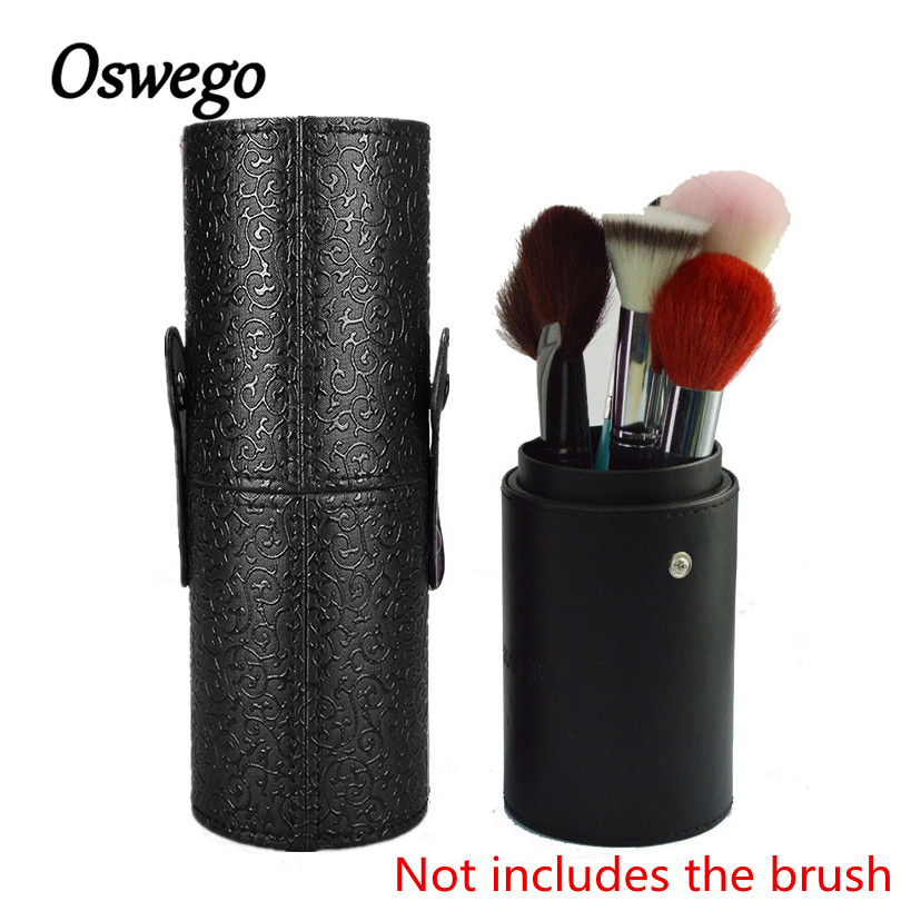 PU Leather Makeup Brush Bag Cosmetic Pens Holder Case Shiny Embossed Woman Toiletries Hasp Bag School Pen Pencil Cosmetic Bag big capacity high quality canvas shark double layers pen pencil holder makeup case bag for school student with combination coded lock