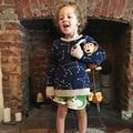1-6Y Bobo Choses Otoño Suéter Constelación de Invierno Suéteres De Algodón Jersey Kids Niños Niñas Suéter de Punto Ropa de Los Niños