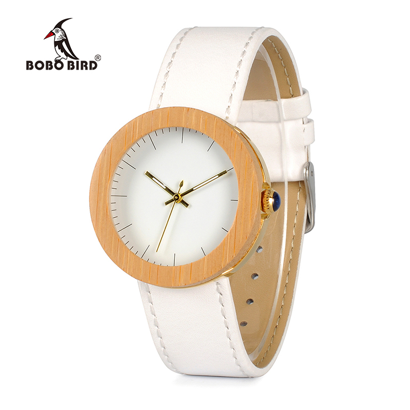 BOBO BIRD Kvinnor Bambu Klockor Montre Femme Lady Japan Movement Quartz Armbandsur Relogio feminino C-J27 DROP SHIPPING