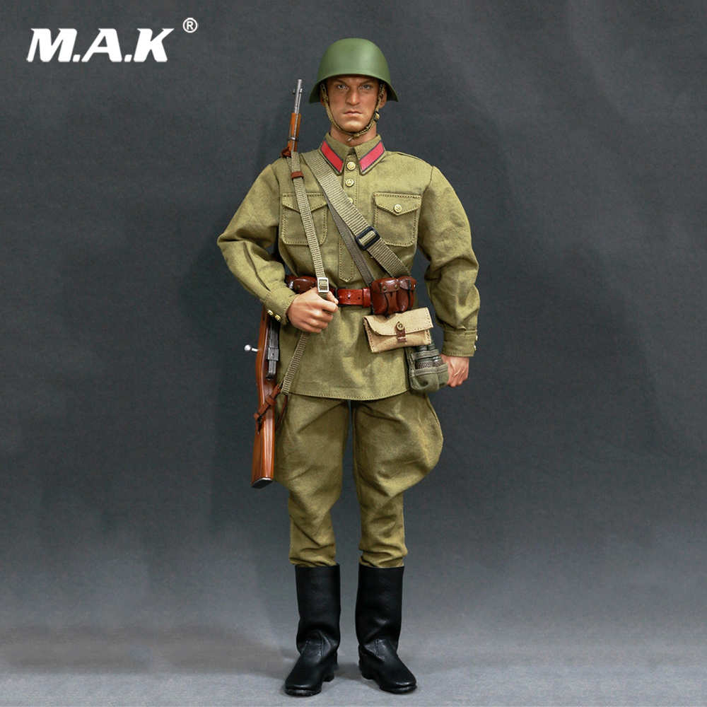 1/6 Scale Soldier Clothes Set WWII Soviet Red Army Infantry Equipment Set For 12 Inches Action Figures Collections 1 6 scale soldier enter the dragon bruce lee opponent mr han shi jian clothes set free head carving