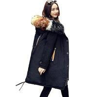 Для женщин зимние пальто 2018 новые Для женщин зима толстые 90% Белое пуховое пальто с капюшоном Длинная женская мода легкая куртка пальто