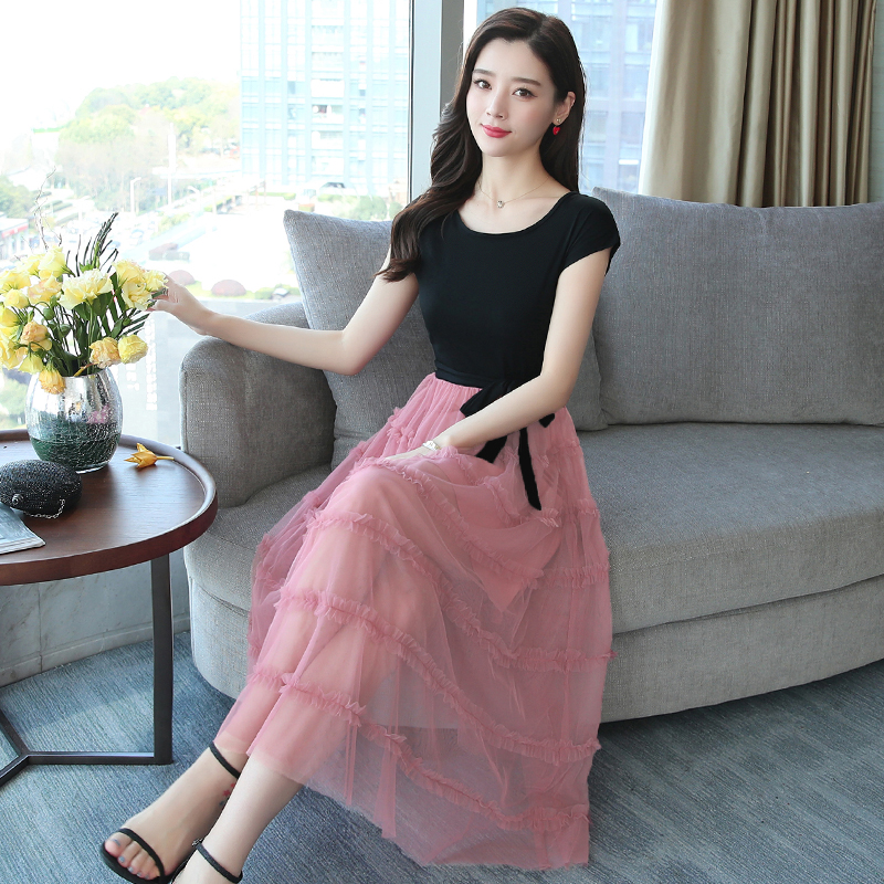 Summer Women Shirt Dress Long Elegant Office Lady Formal Midi Fake Two-piece Dress Suit Vintage Casual Korean Runway Vestidos 4
