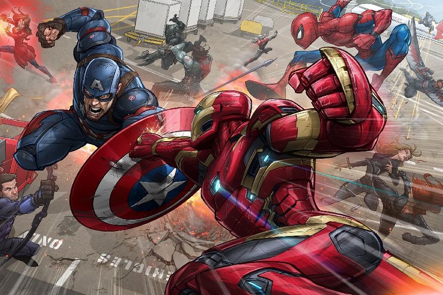 Diy Frame Captain America 3 Captain America Vs Iron Man