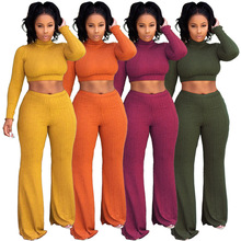 Casual Women Two Piece Set Sweater Top and Pants Se