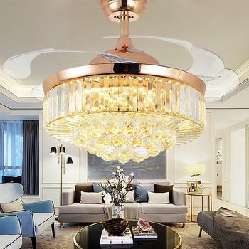 Crystal Ceiling Fan Light Modern Luxury