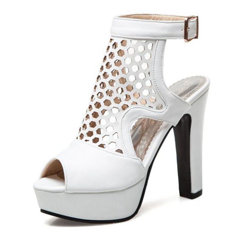 Blxqpyt пикантные модные летние сандалии женские большие размеры 34 50 свадебные туфли на высоком каблуке вечерние женская обувь Туфли лодочки н... - 3
