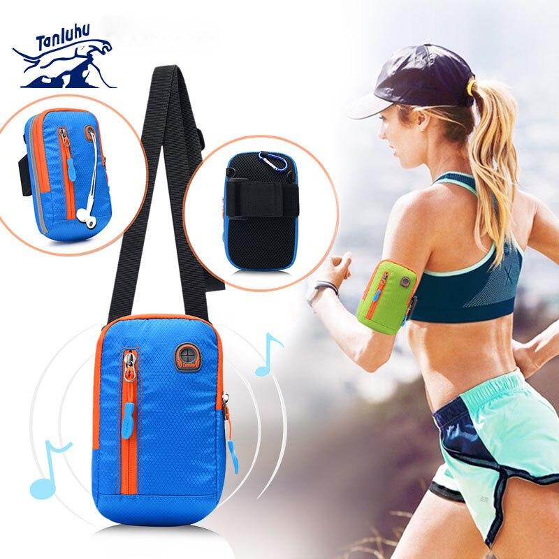 TANLUHU 366 Men Women Water-resistant Running Jogging Cycling Arm Bag Outdoor Sports Shoulder Cross Bag Phone Pouch