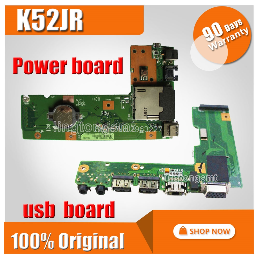 For ASUS K52 X52J A52J K52J K52JR K52JT K52JB K52JU K52JE K52D X52D A52D K52DY K52DE K52DR Audio USB IO board Power board k52 k52j k52jr k52jc k52dr x52f k52f x52j for asus usb board original dc power jack board 60 nxmdc1000 k52jr dc board