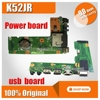 For ASUS K52 X52J A52J K52J K52JR K52JT K52JB K52JU K52JE K52D X52D A52D K52DY K52DE K52DR Audio USB IO board DC Power board