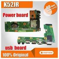 Pour ASUS K52 X52J A52J K52J K52JR K52JT K52JB K52JU K52JE K52D X52D A52D K52DY K52DE K52DR Audio USB carte E/S carte D'alimentation CC