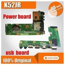 Voor For Asus K52 X52J A52J K52J K52JR K52JT K52JB K52JU K52JE K52D X52D A52D K52DY K52DE K52DR Audio Usb Io board Dc Power Board