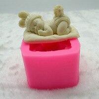 Handmade Soap Sweat Cake Bake Silicone Mold Sleep Baby Modeling DIY Chocolate Pes Tool Of Baking